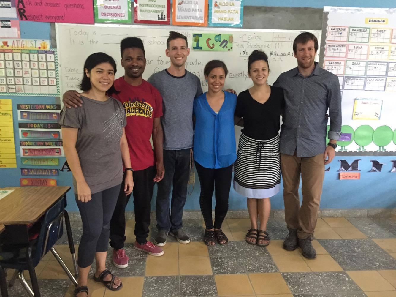 Miss Libian (Prepa teacher), Mr. Brian (2nd grade teacher), Mr. Sean (BECA Administrator), Miss Stephanie (4th grade teacher), Miss Laura (1st grade teacher), Mr. Tim (5th grade teacher)