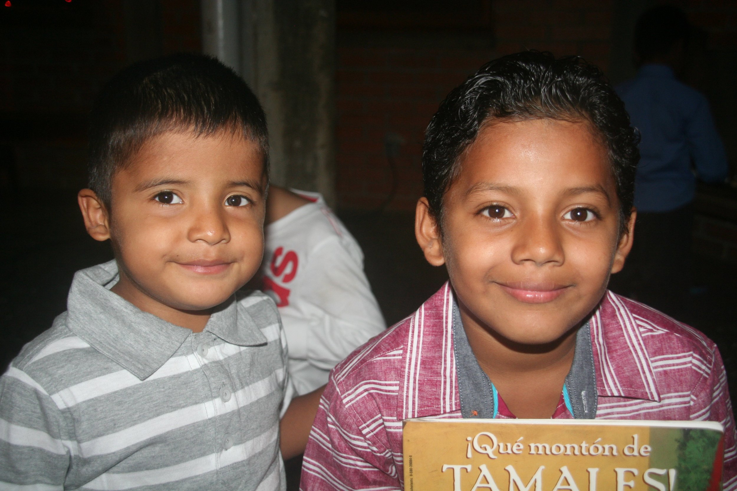 Isaac (left) and one of his older brothers