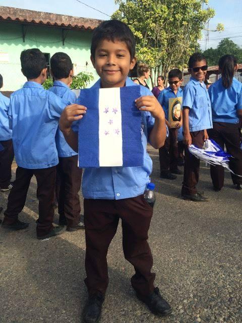 Jason* at the parade on Honduran Independence Day (September 15th)