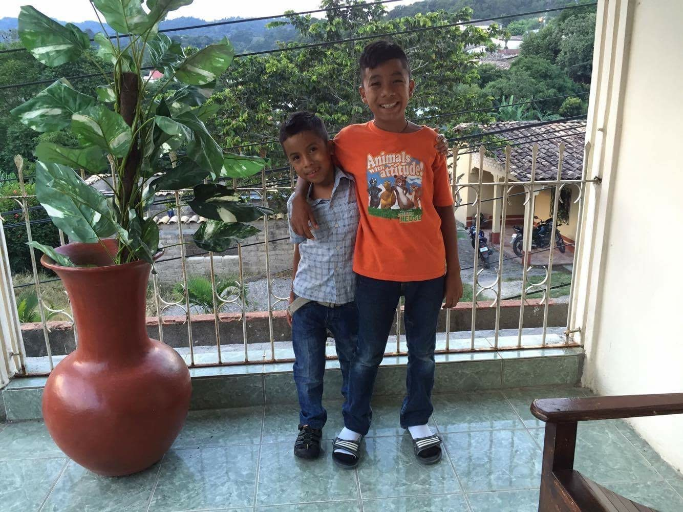 Hernando and his brother during their vacations in October this past year.