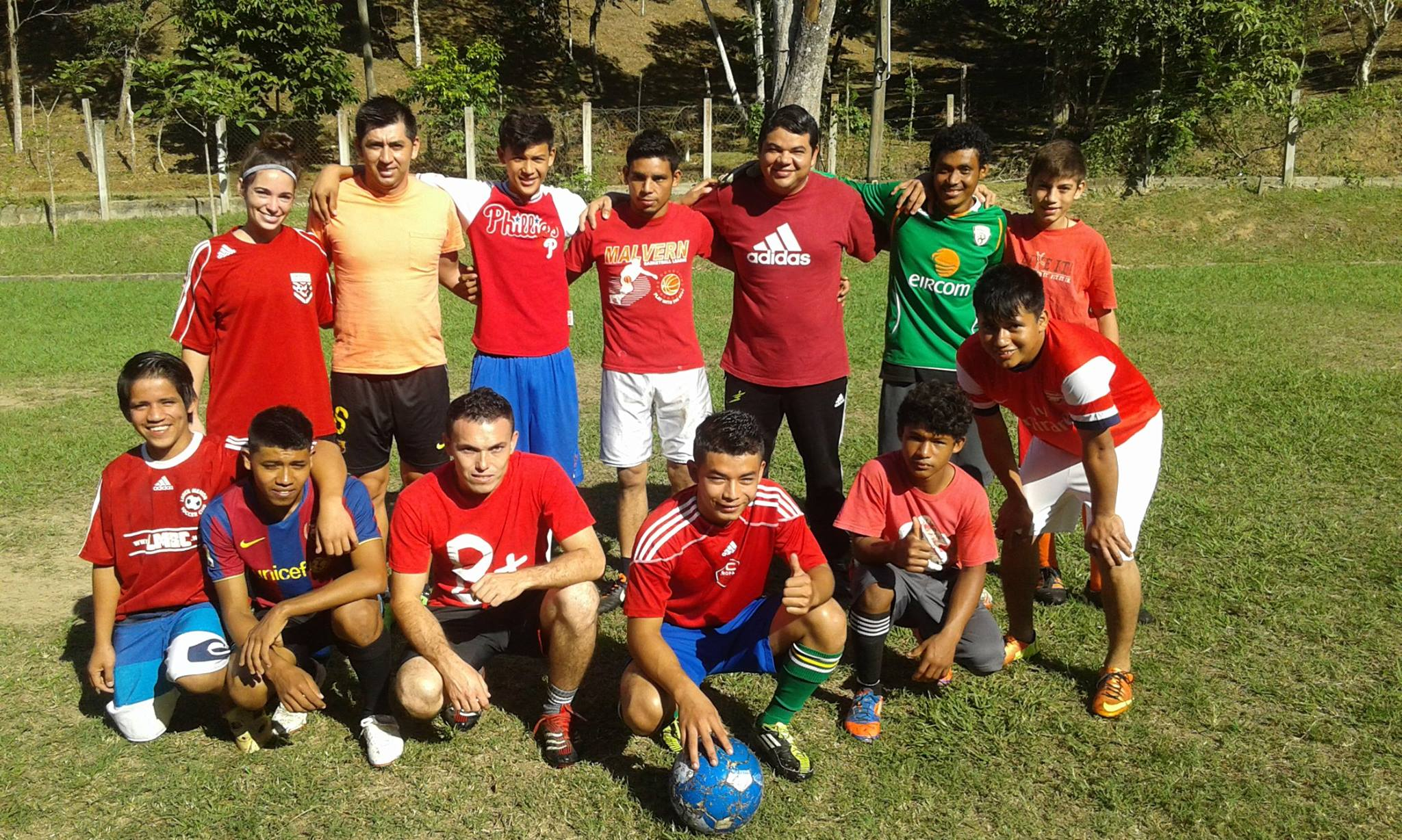 Carlos (top row, center, white shorts) and his team Juventus after winning the 2015 Amigos de Jesús Christmas Soccer Tournament.