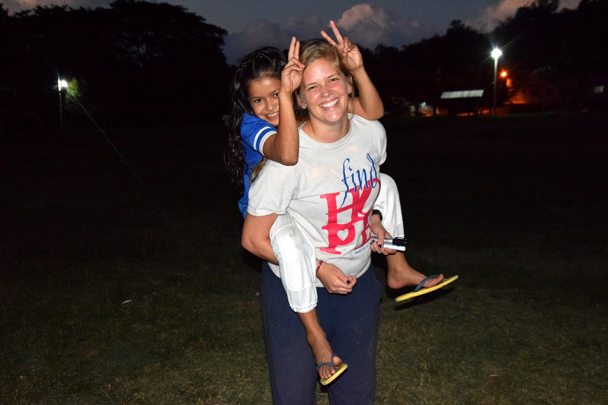 Natasha and Miss Rachael (2015-17 Amigos volunteer)