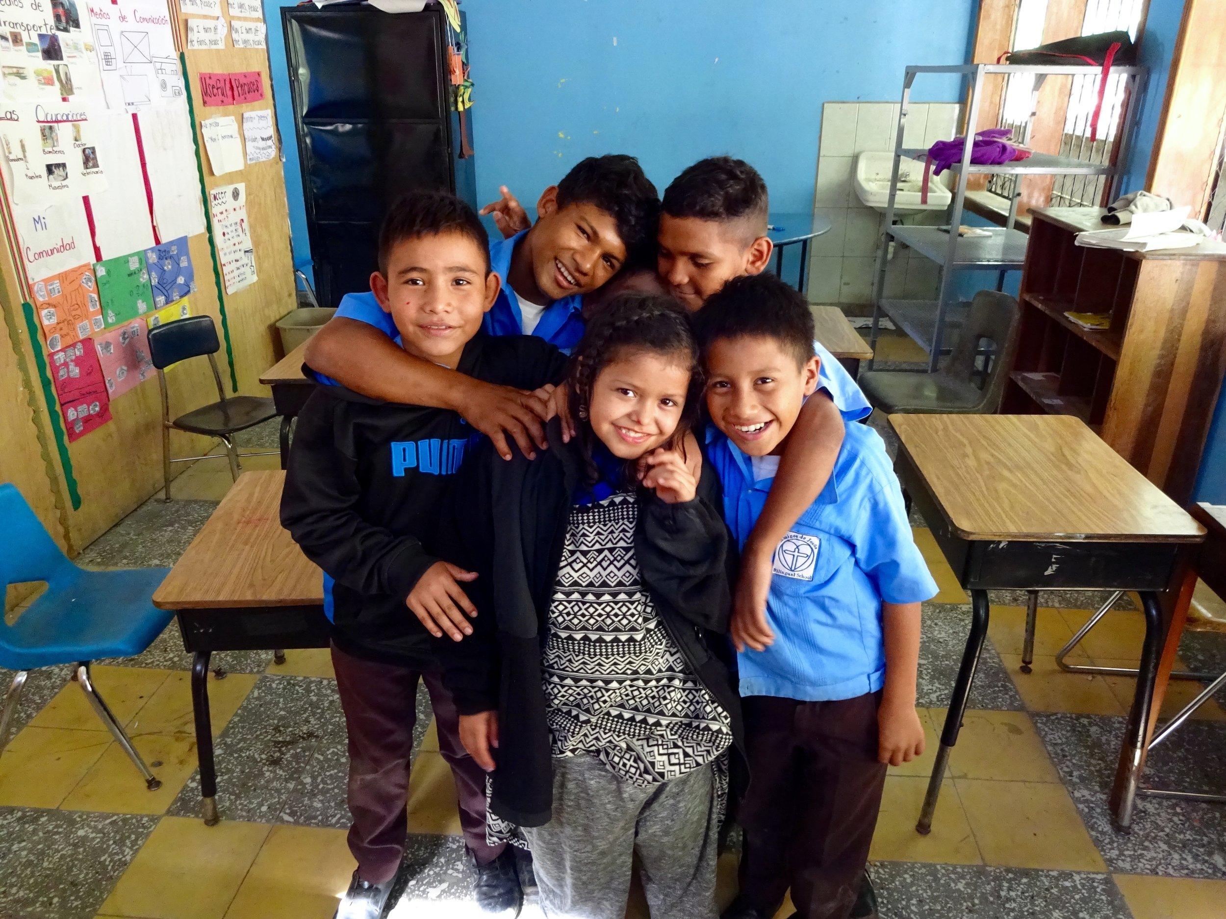 Natasha and her classmates