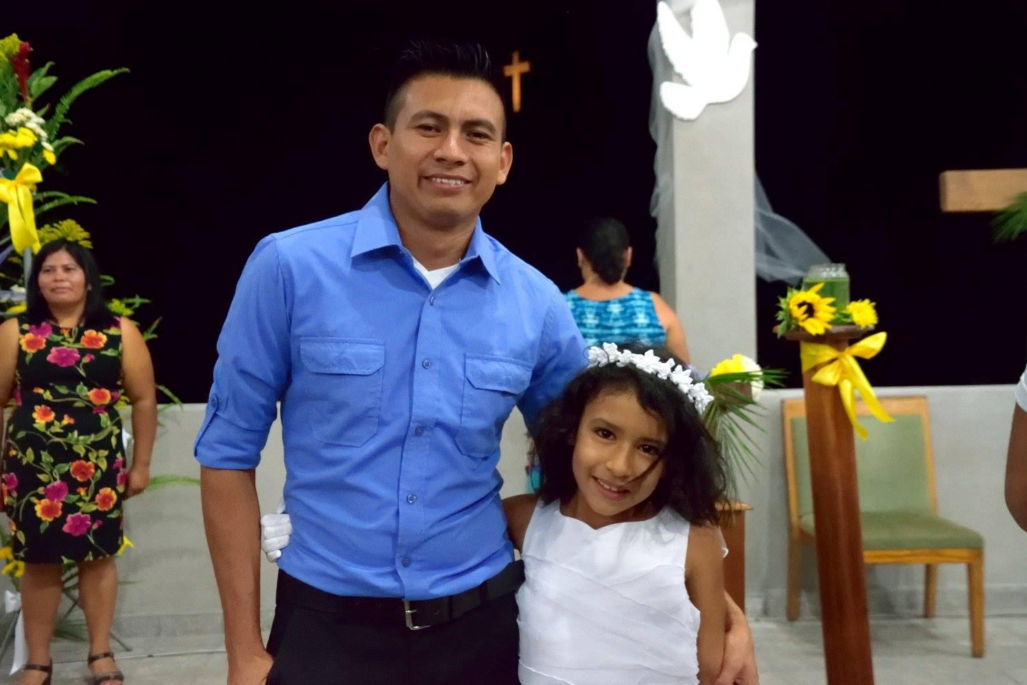 Felipa with her godfather Padrino Carlos
