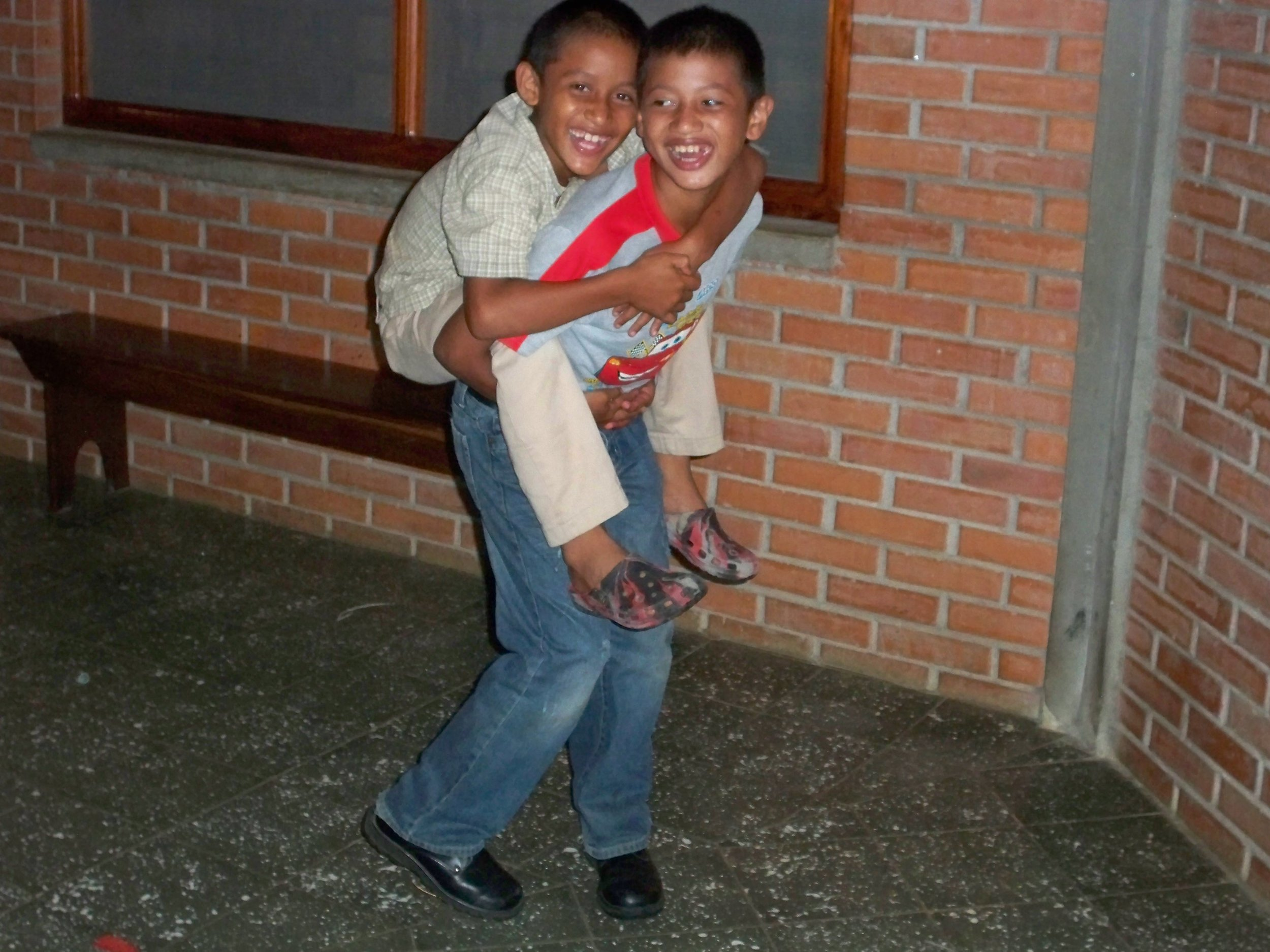 Santino and his older brother, Josias*,have always been very close (cerca 2009).