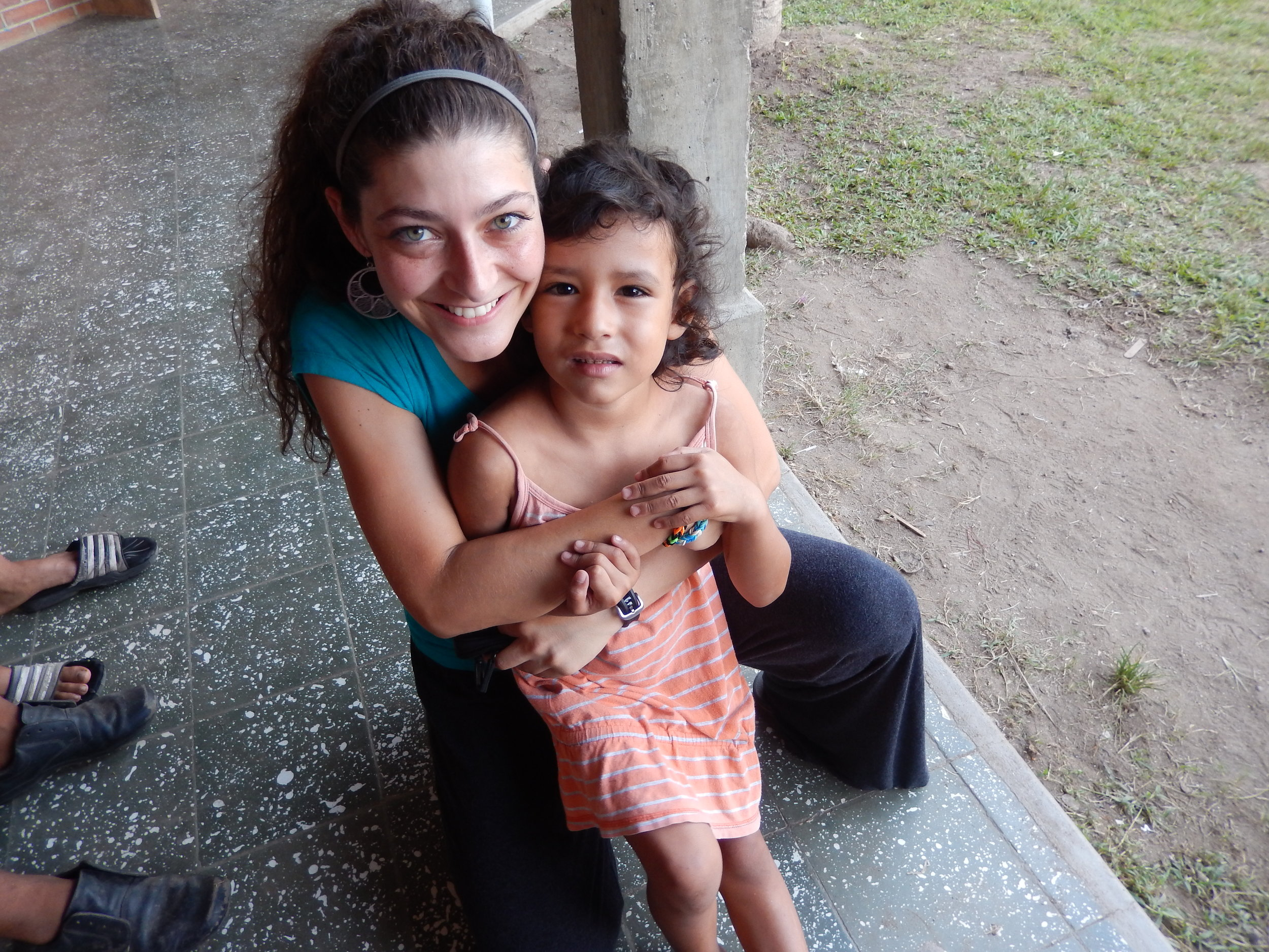 Miss Christina during her first trip to Amigos as a week long volunteer in 2014.