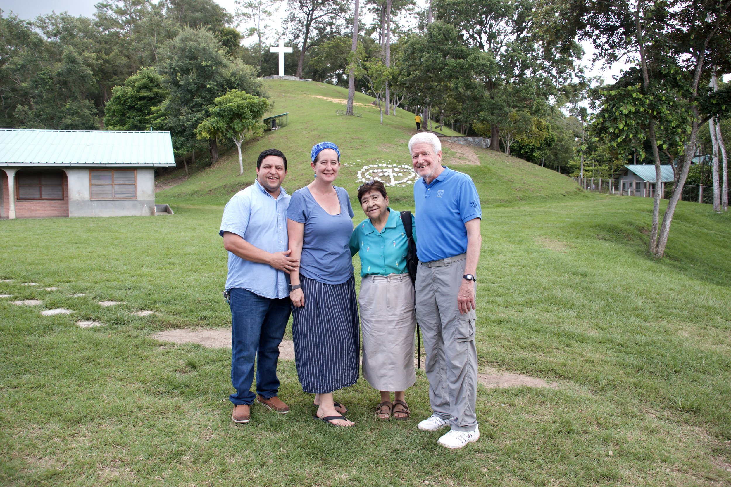 Sister Teresita (second from the right) on her most recent to Amigos de Jesús in October 2017, pictured with Co-Directors of Operations, Wilson and Amy Escoto, and Co-Founder and President of Amigos de Jesús, Father Dennis O'Donnell.