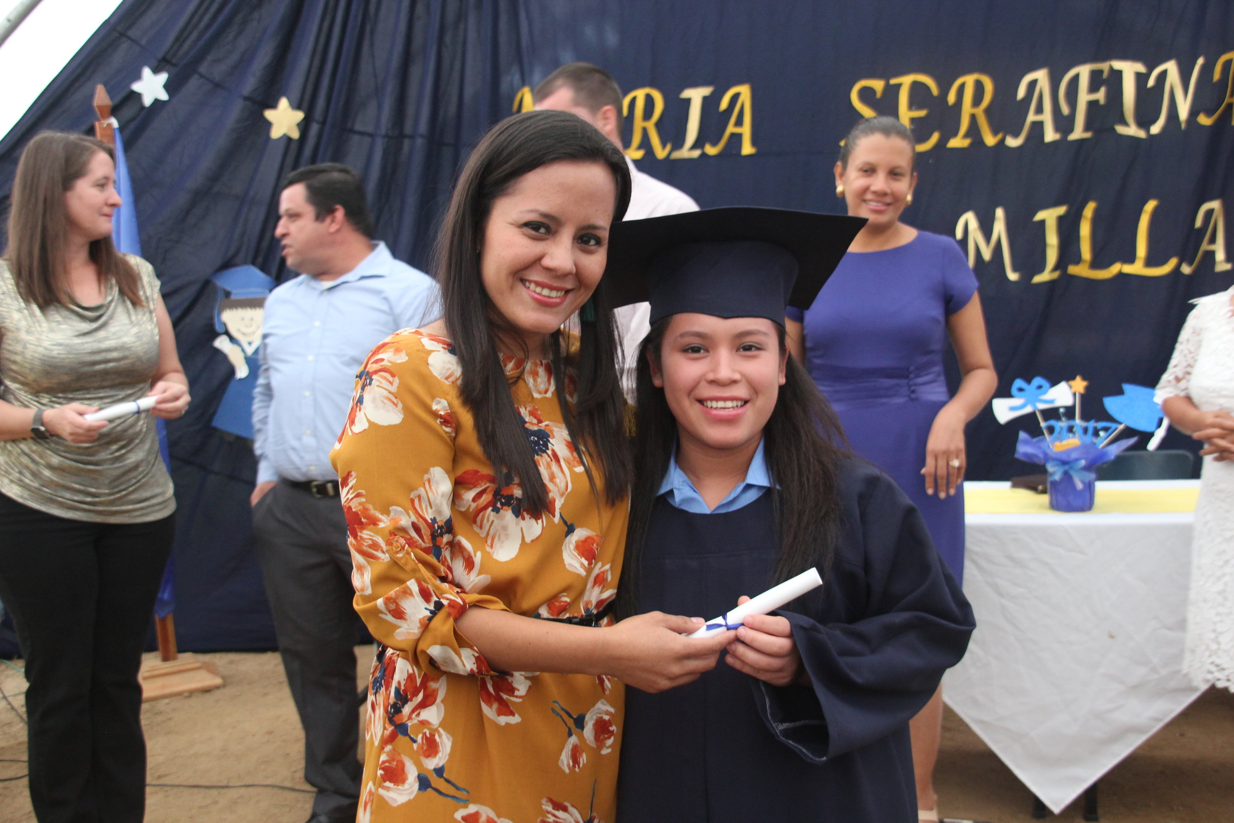 Virginia at her 6th Grade Graduation Ceremony, which took place this December at the Amigos de Jesús Bilingual School.