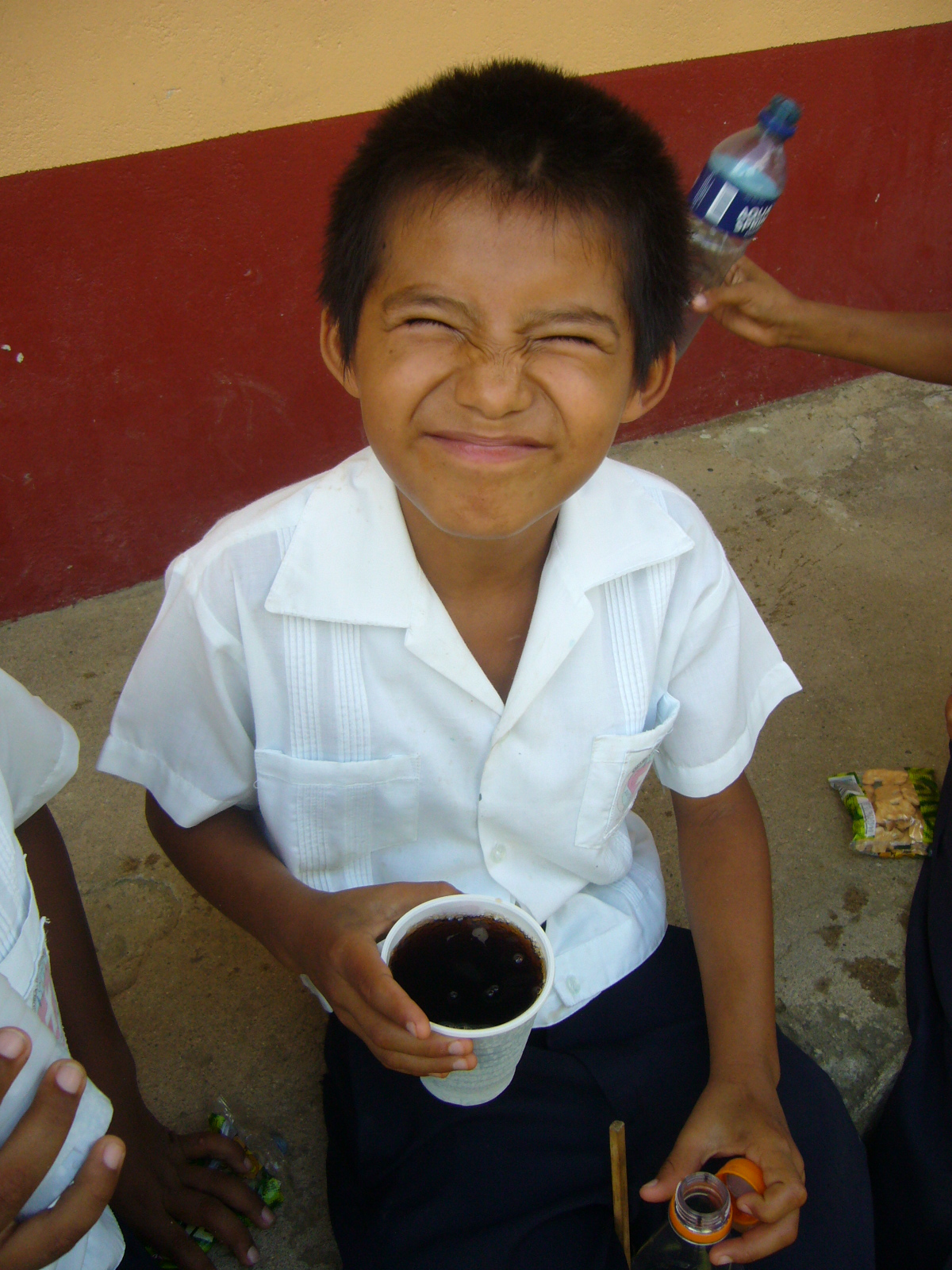 Vicente in 2008 (when he was just 8 years old!) enjoying a snack.