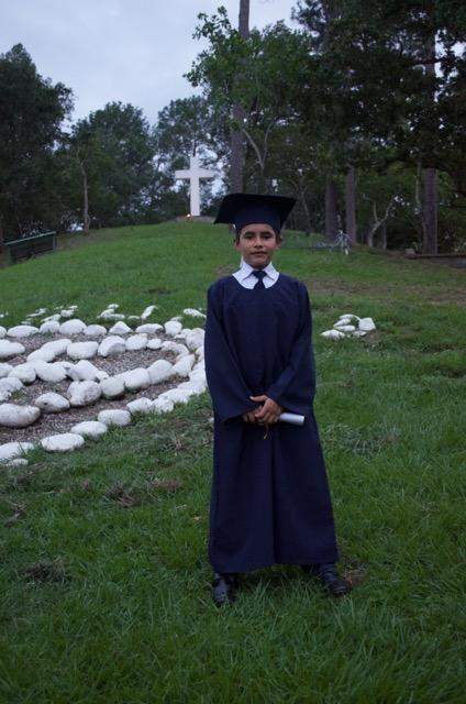 Lucio celebrating his graduation from 6th grade back in 2015.