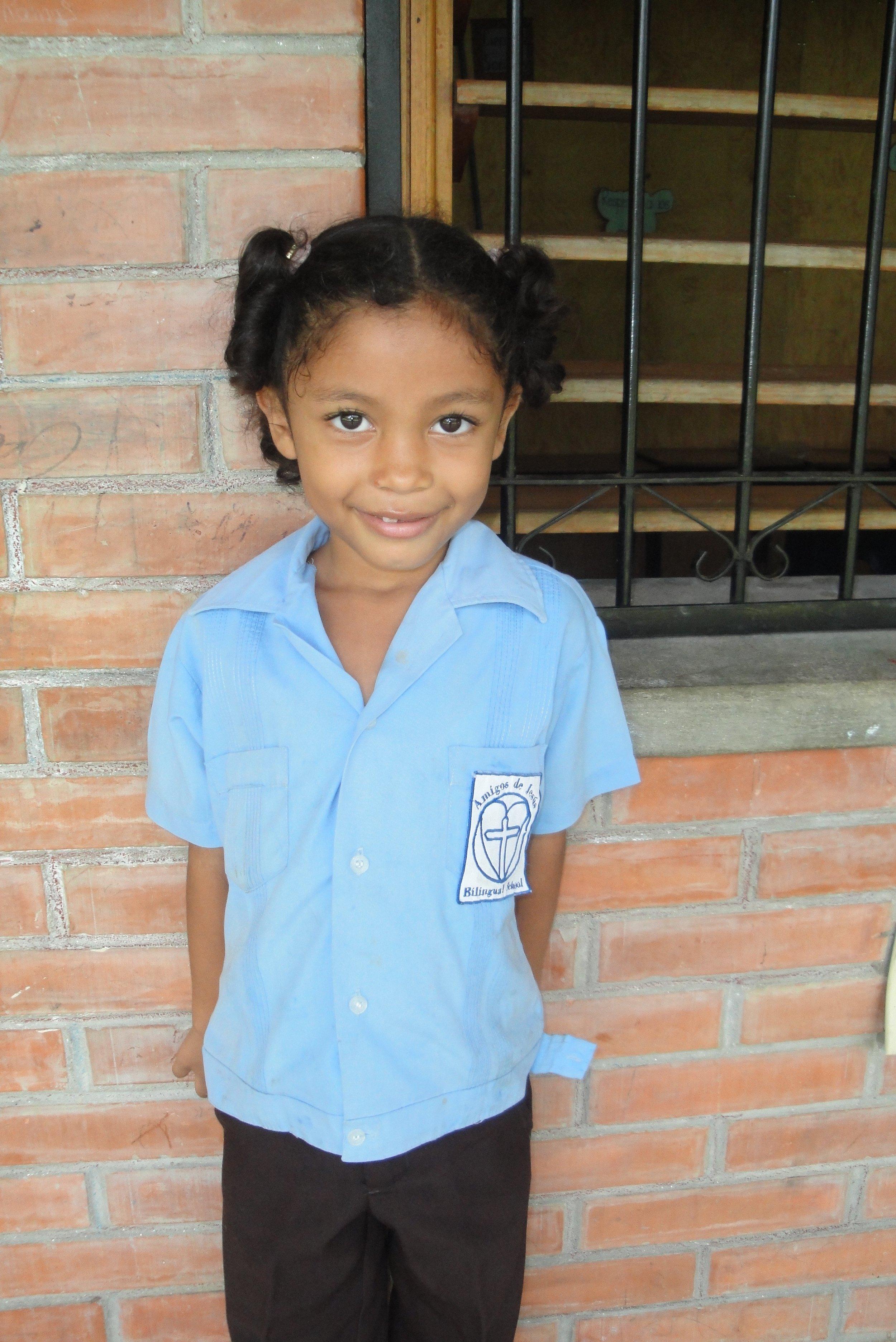 Soledad in her school uniform back in 2014.