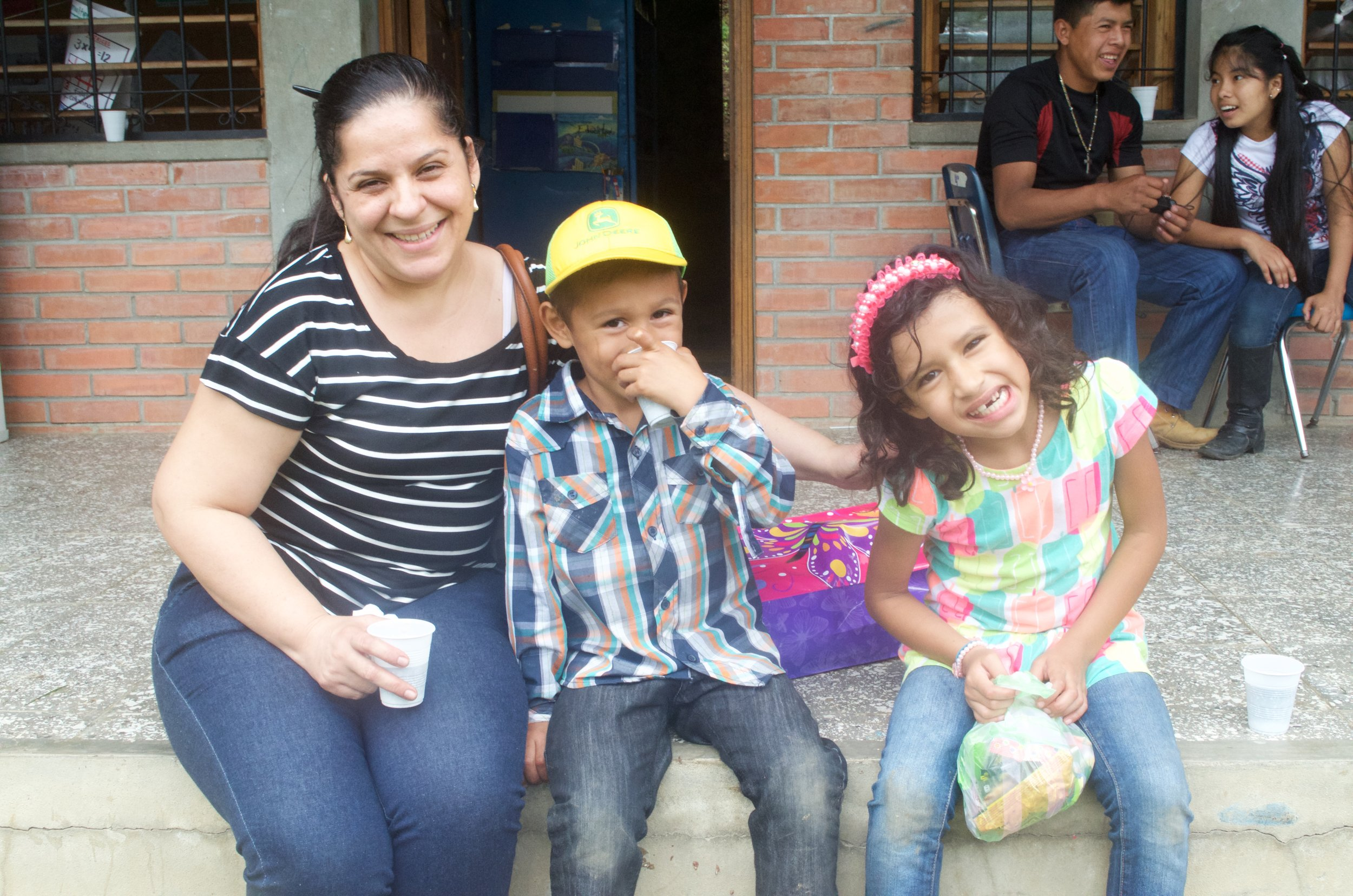 With his sister, Felipa,* on the right, during Visitor's Day in 2016.