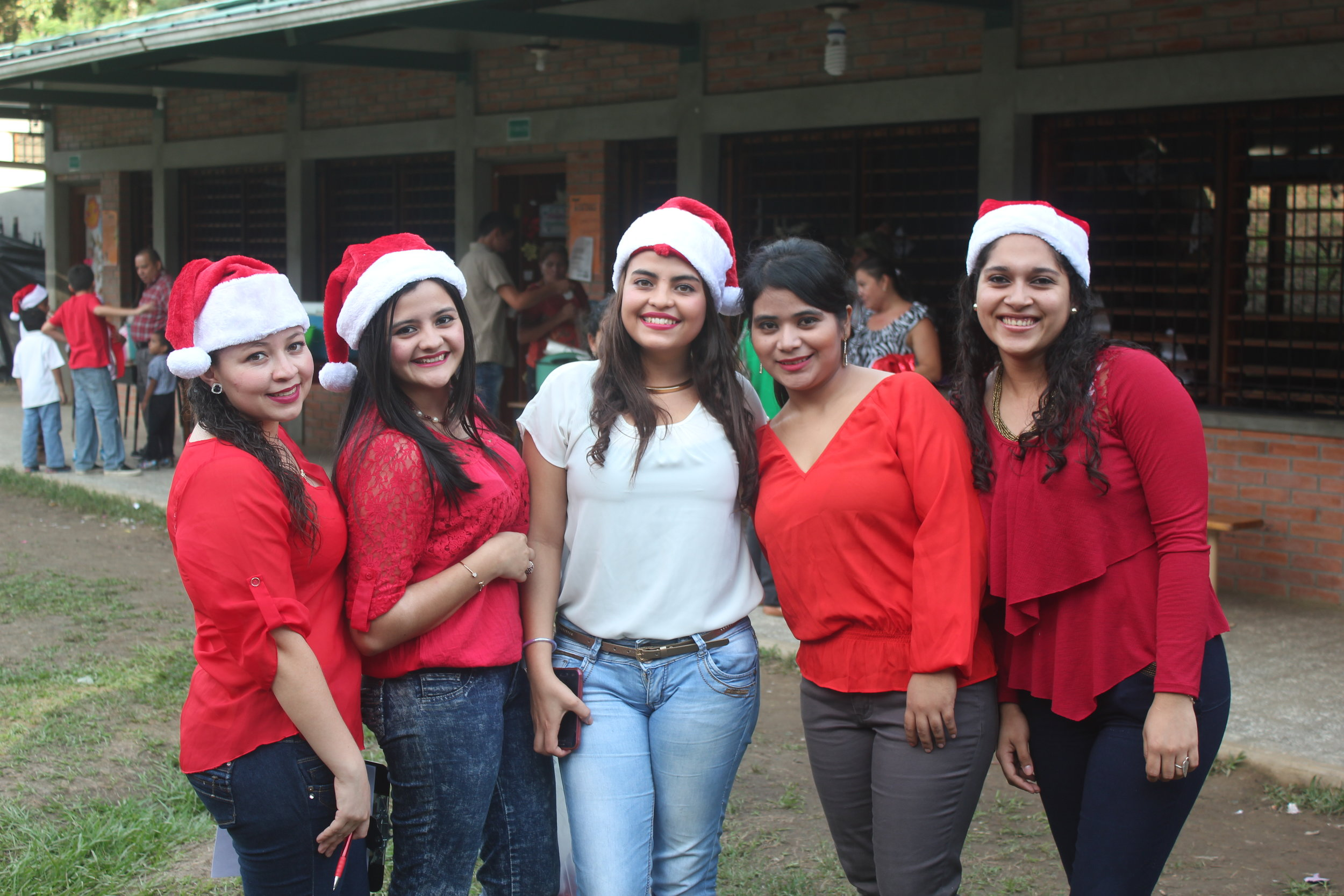 Pictured here on the right with several of the other Honduran volunteer teachers at the Christmas Concert in December 2016.