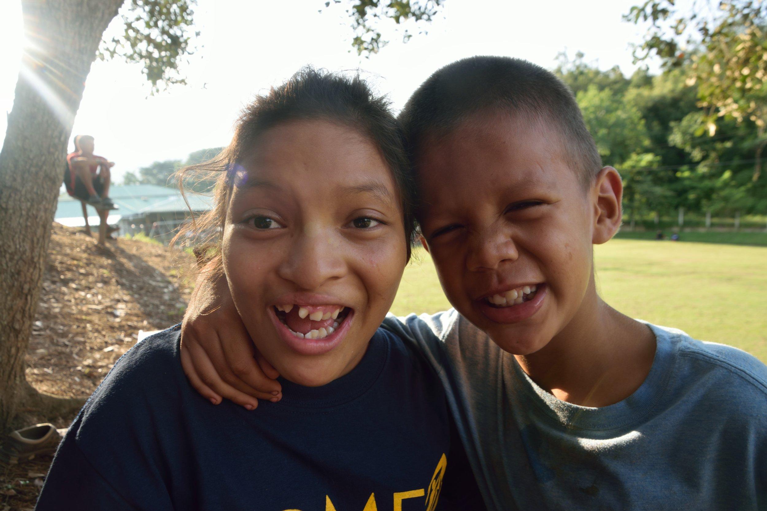 Domingo and his close friend and classmate, Nina.*