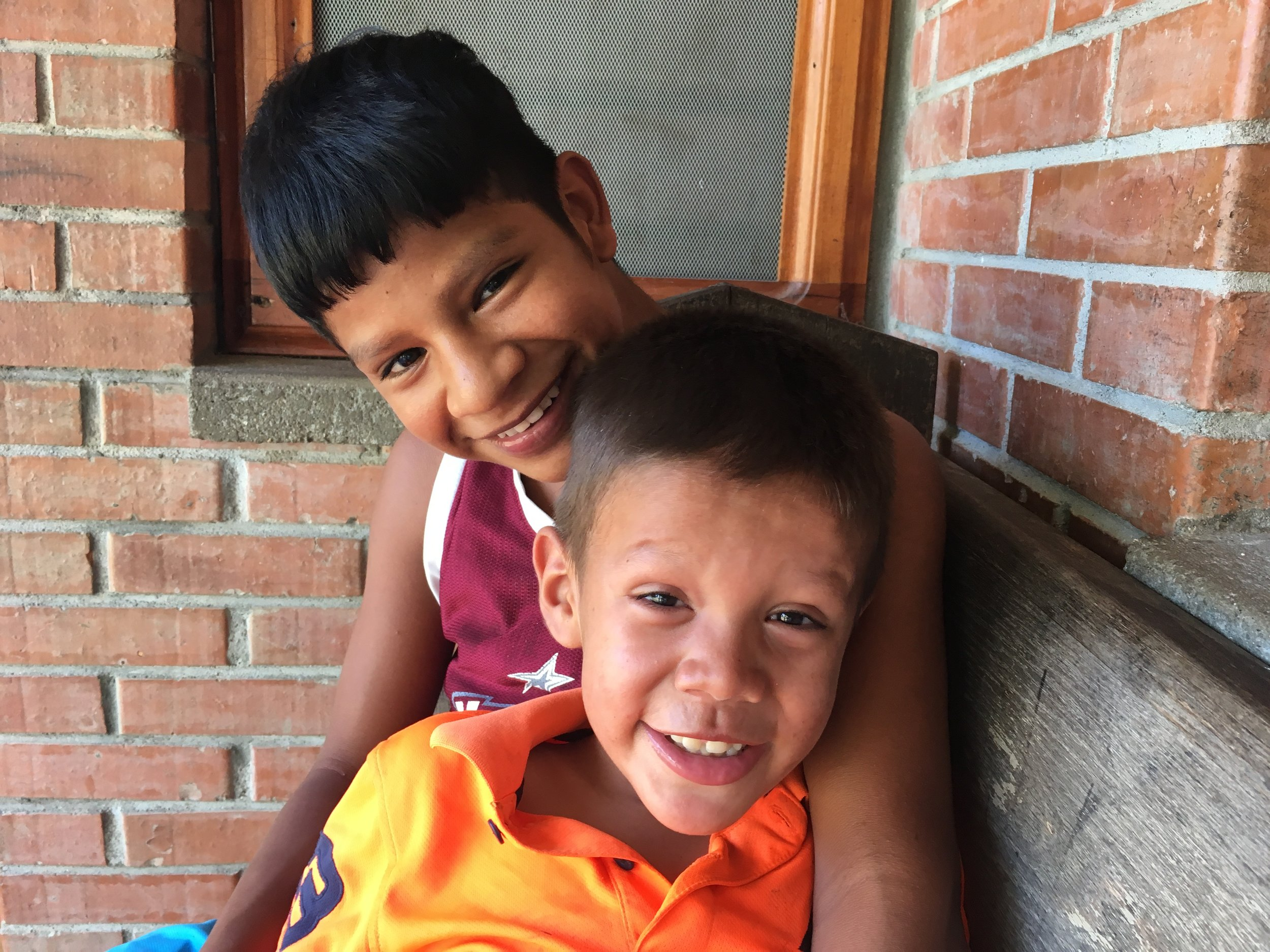 Domingo and one of the older boys he lives with.