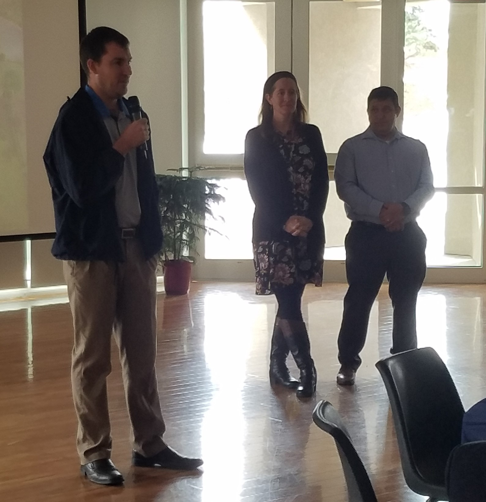 Alan, Amy and Wilson speaking at the Ash Wednesday Luncheon