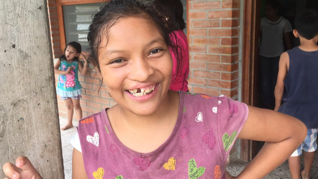 One of the girls Clay is closest with in his hogar, Santa Rosa de Lima. She always is on the lookout for Clay when he's out and about!