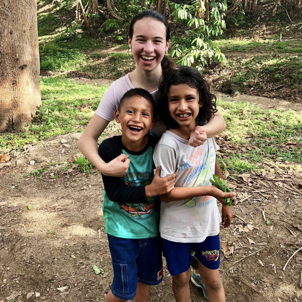 Enjoying time with these fun-loving siblings during one of Alexa's visit to Amigos de Jesús in Honduras.