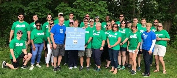 Employees of Berkshire Bank Volunteering in Malvern, PA on June 5, 2019