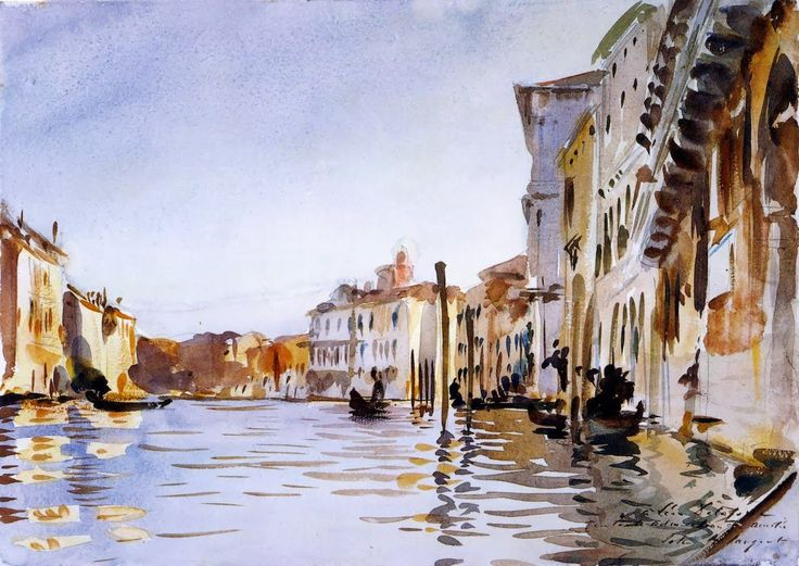 Venice Grand Canal,  John Singer Sargent,watercolor on paper