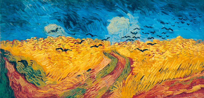 Wheatfield with Crows , Vincent Van Gogh, oil on canvas