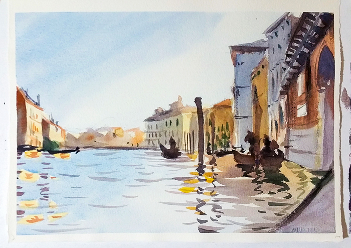 Sketch After Sargent , John DuVal, watercolor on paper