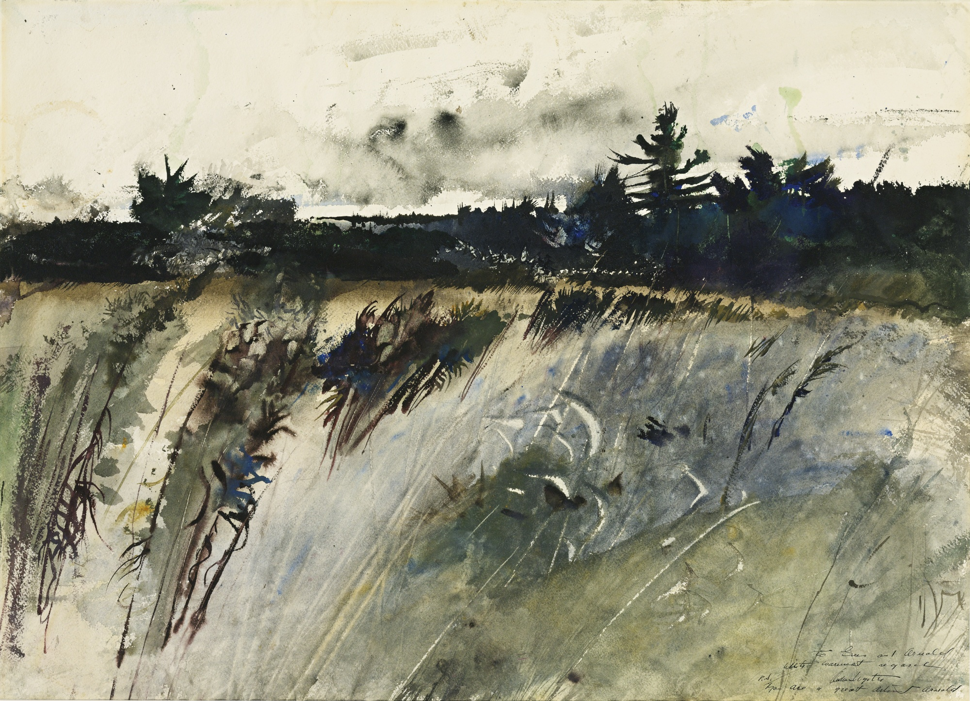One of my favorite paintings by Andrew Wyeth - a true master of watercolor