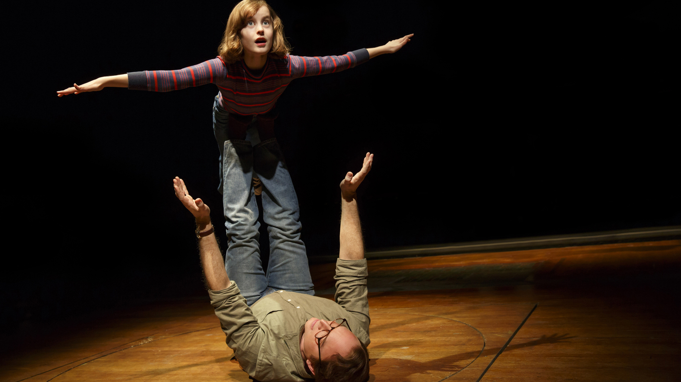 Sydney Lucas and Michael Cerveris as young Alison Bechdel and her father in Fun Home. (Photo: Joan Marcus)