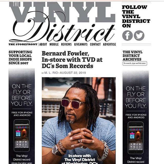 Thanks @vinyldistrict 👍🏿