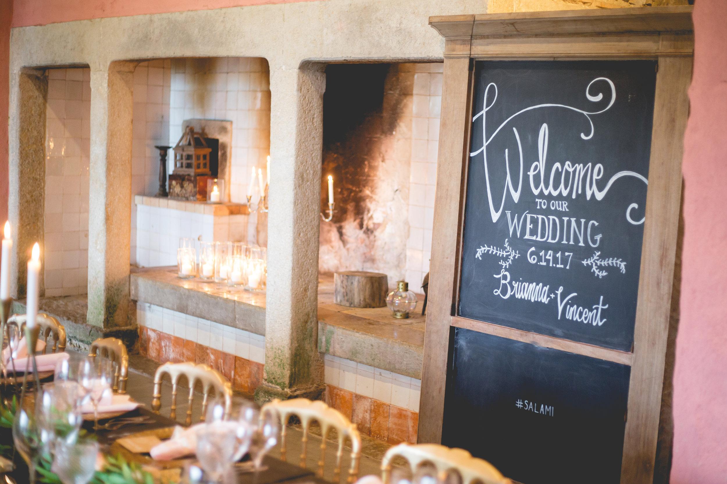 The Quinta Portugal Destination Wedding Venue Calligraphy