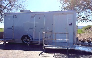 Three Station (ADA) Luxury Portable Restroom Trailer -