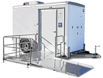 Single Station (ADA) Luxury Portable Restroom Trailer -