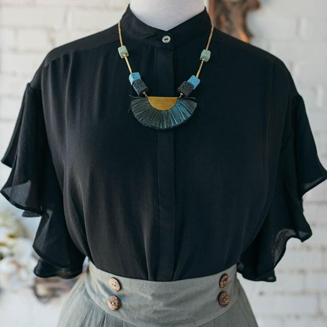 We love the versatility of this high neck top! Pair with cowboy boots and turqoise jewelry for a subtly southern look, or black high-waisted jeans and a velvet kitten heel for something a little more sophisticated. Either way, you're bound to stun with those flutter sleeves.⠀ ⠀ #instadc #igdc #dcfashion #dcfashionblogger #fashiondc #igersdc #upshurstreet #petworthdc #navyyarddc #theyards #yardsparkdc #capitolriverfront #dcshopping #dcstyle #acreativedc #mydccool #shoplocal #shopsmalldc #colormixing #ootd