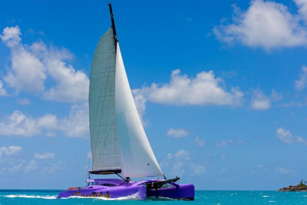 Carbon fibre catamaran