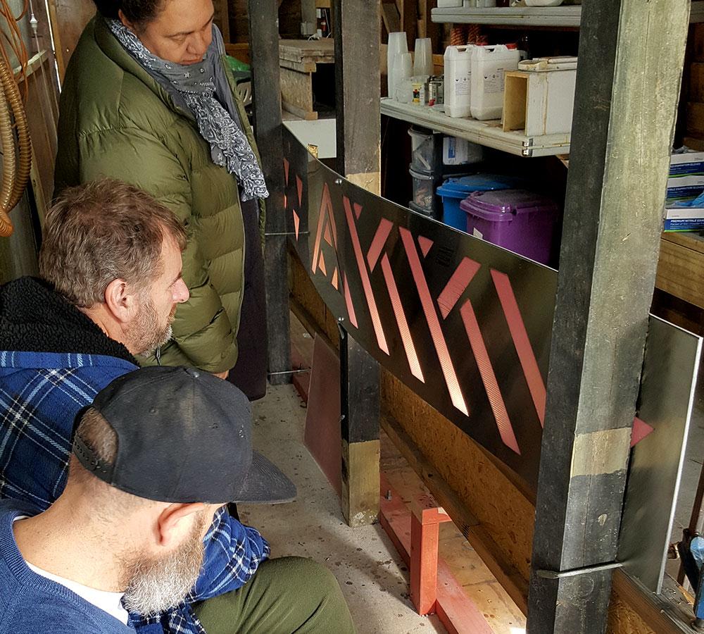 Designers: Henriata, Nicholas, Marc Lenton and Kim Martinengo analyze test panels