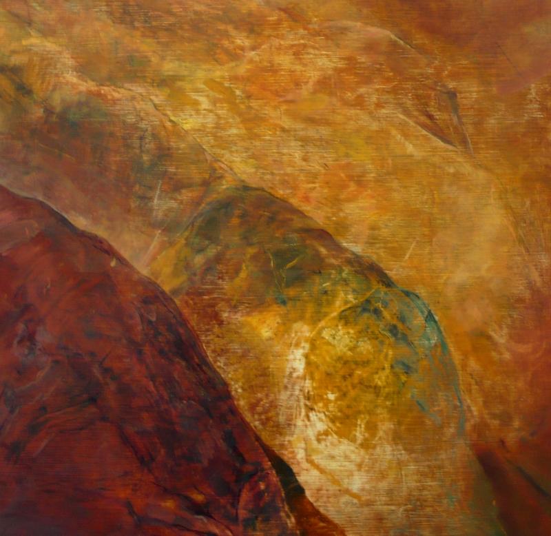 Red Range - oil on board 62 x 56cm