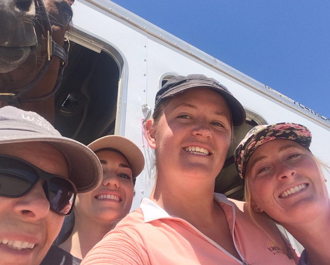 Mostly we just take pictures with our horses