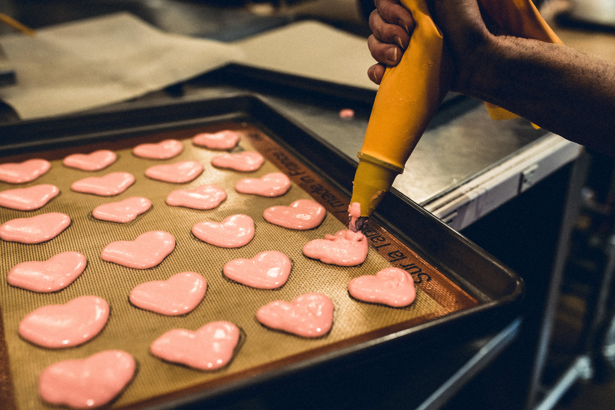 Heart Macarons for Valentine's Day