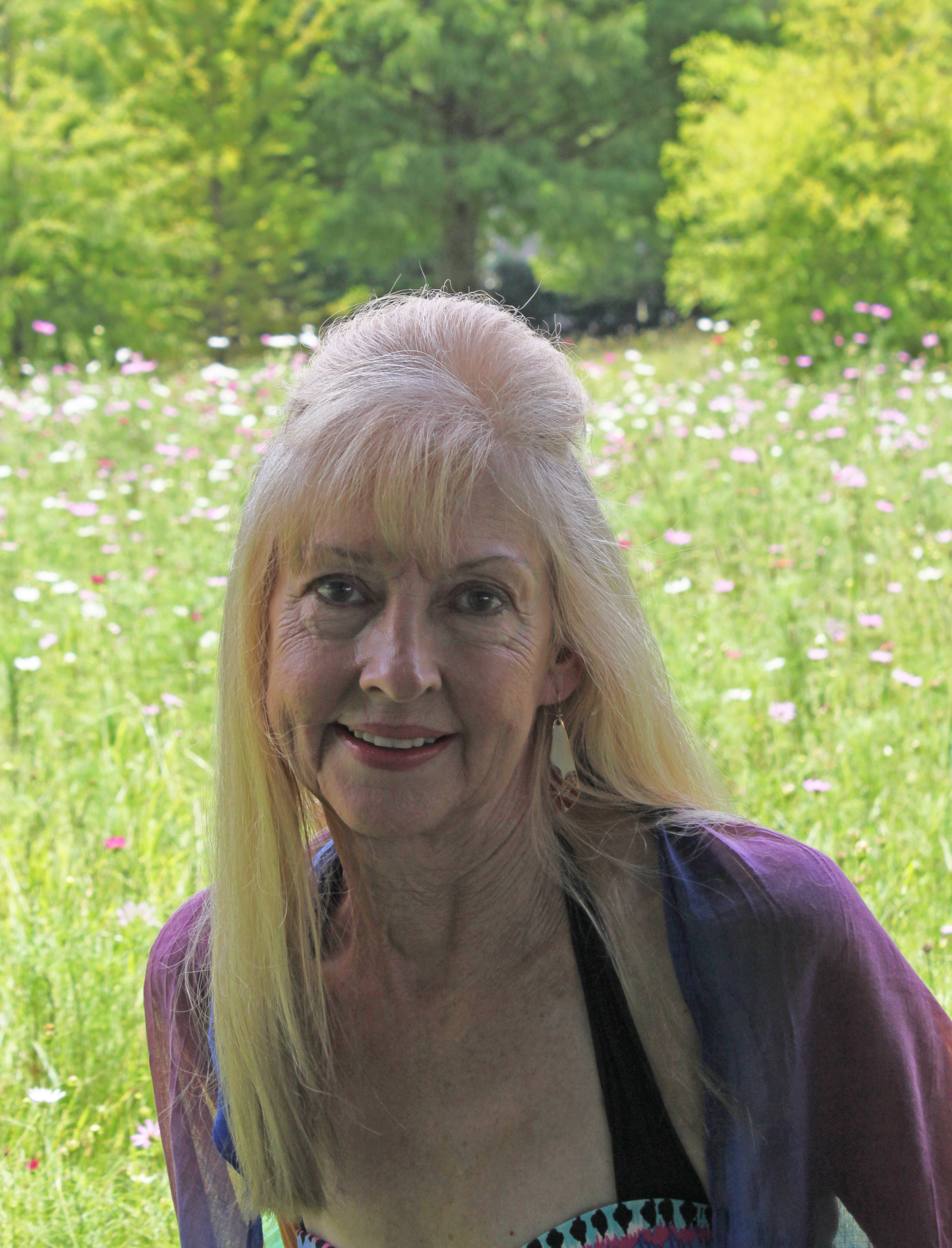 New Orleans Artist,  Jeanne Umbdenstock , in N. O. City Park's Wildflower Field