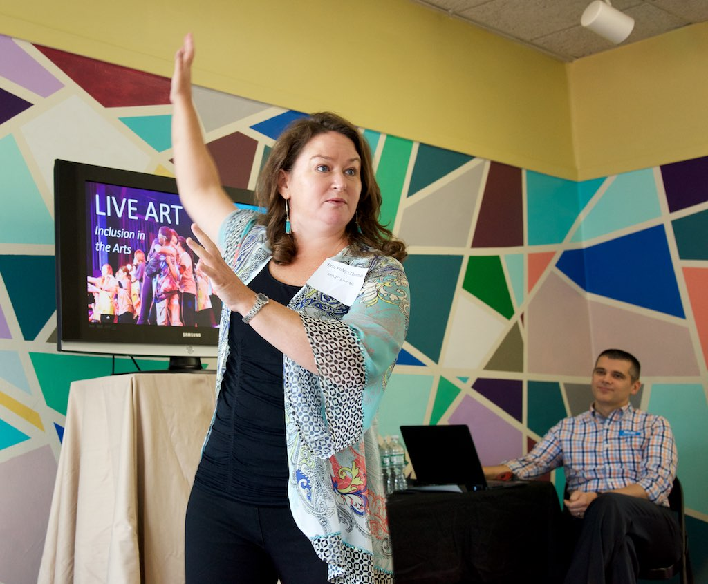 Erin Thomas-Foley at The Complete Actor Studio sharing the SPARC LIVE ART story to Greater Hartford community partners