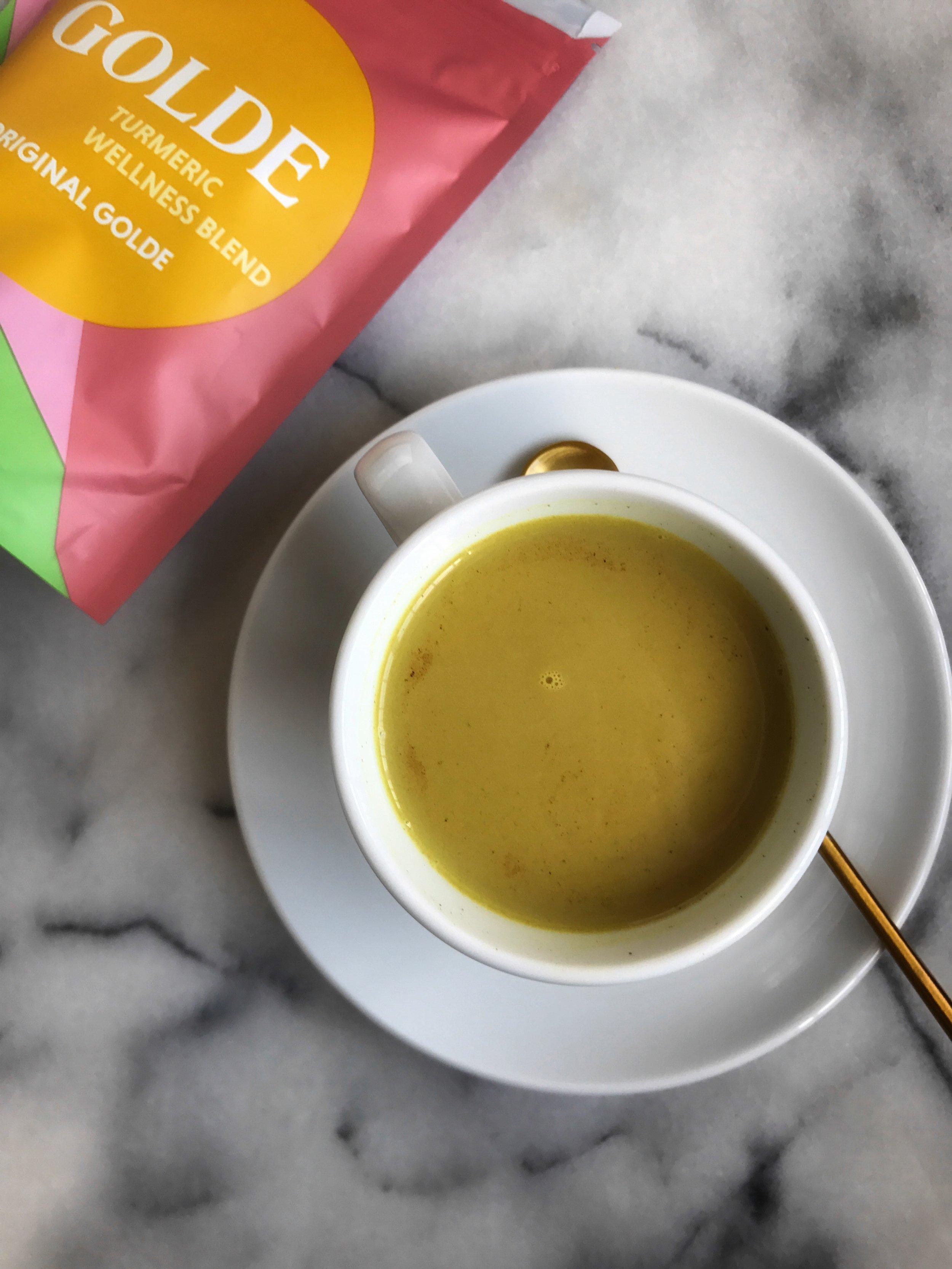 Golde golden milk latte