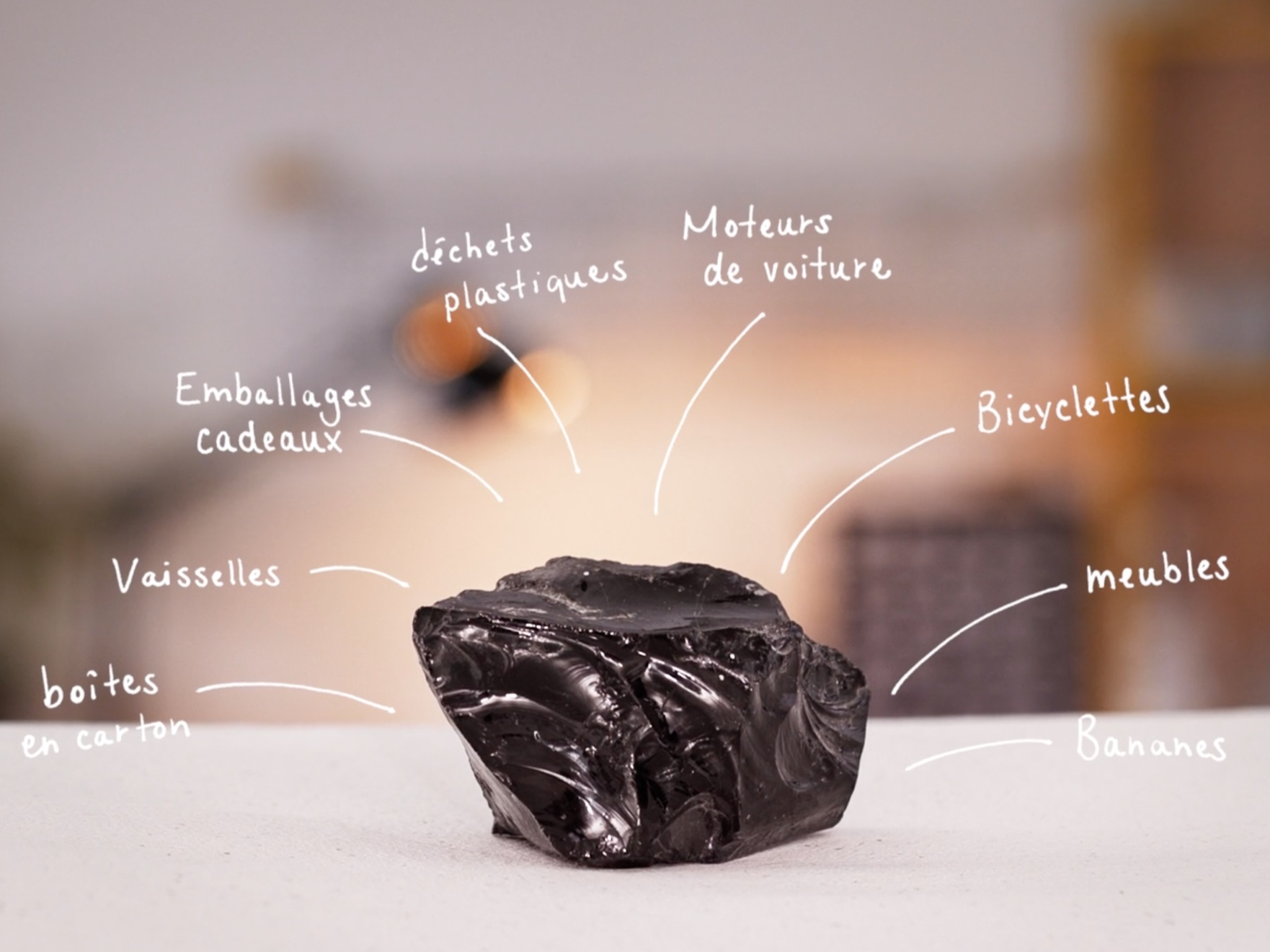 High-end jewelry made out of compressed and vitrified garbage -