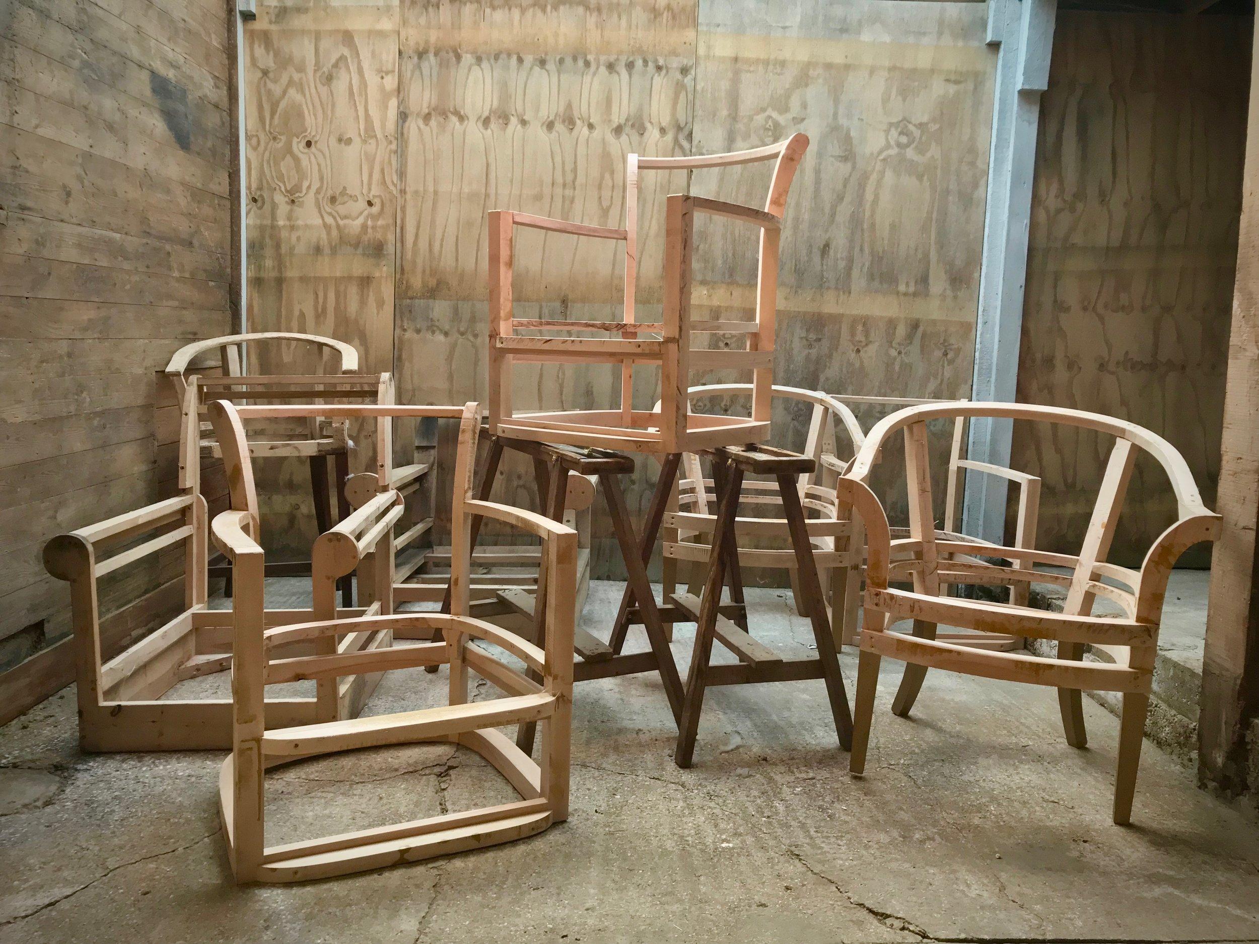 Phoenix Upholstery, Bedford, Bespoke Furniture, - Example 2 (Beech Furniture Frames)