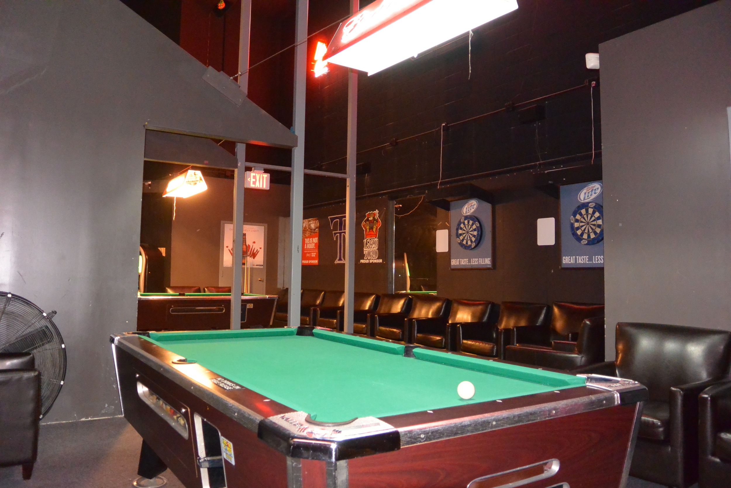 Ultra Lounge Seats 32, 2 Pool Tables, and 4 Plasma TV's