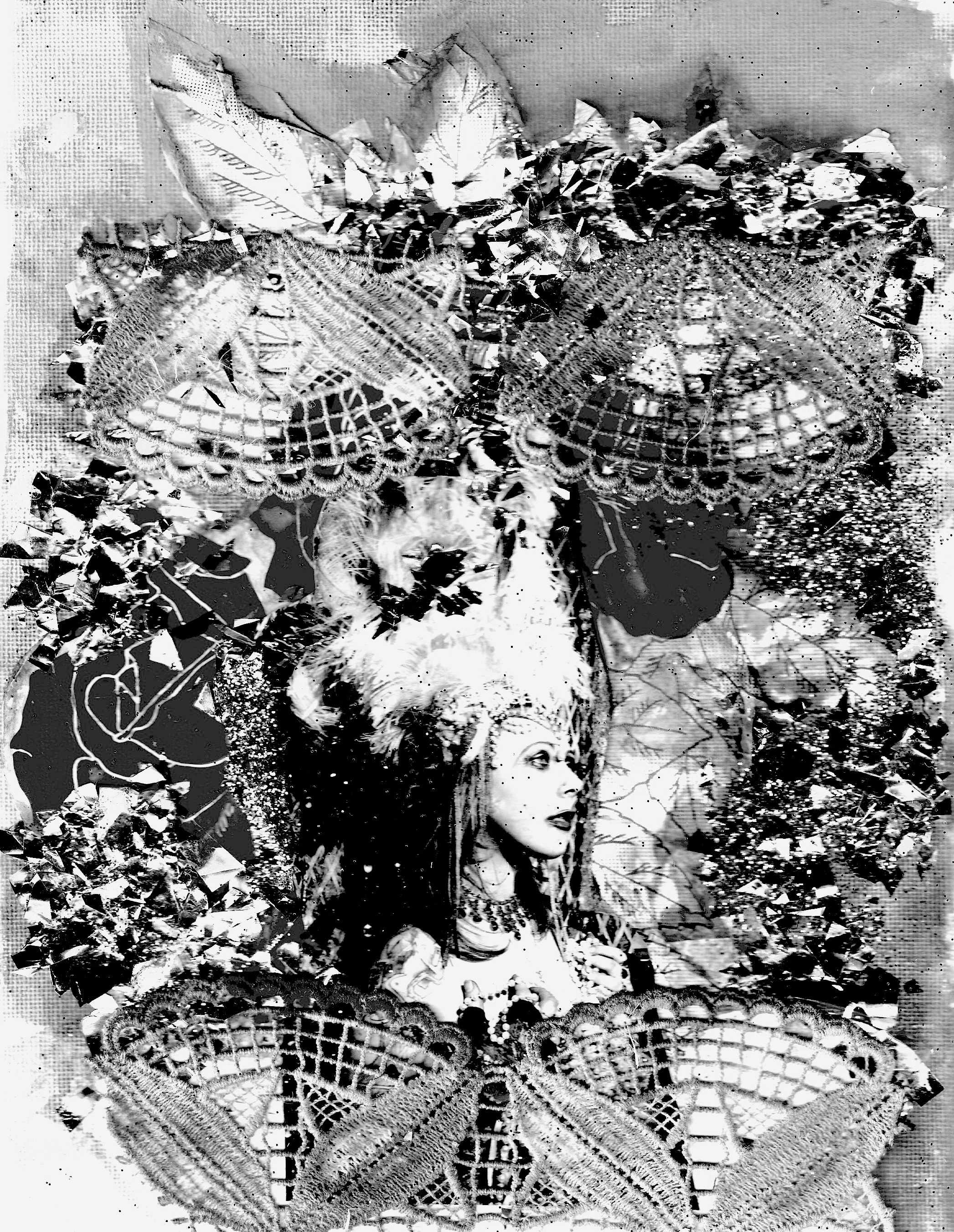 Self portrait@ Stardust and Antique lace collage