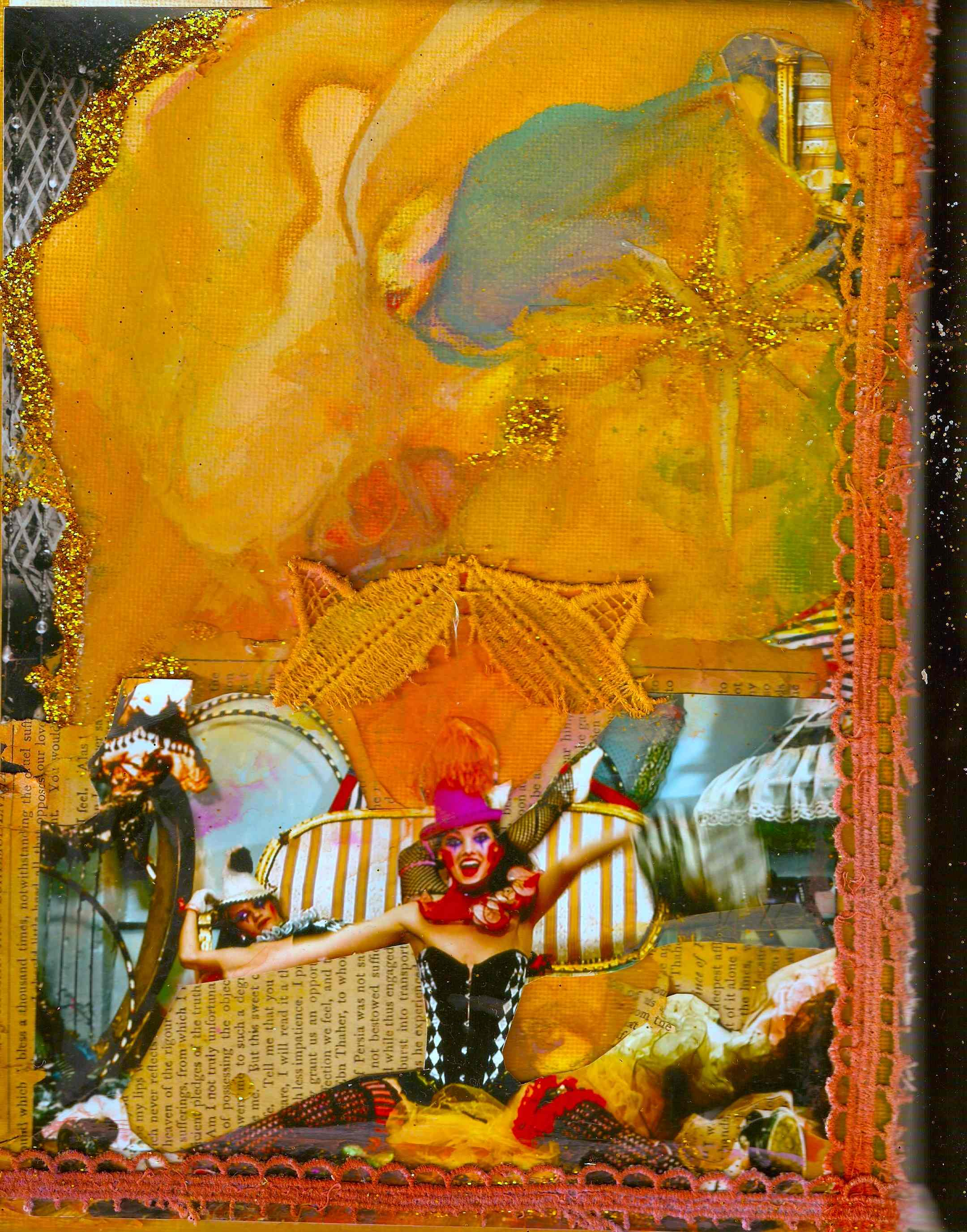 Harlequin & Stardust Collage: