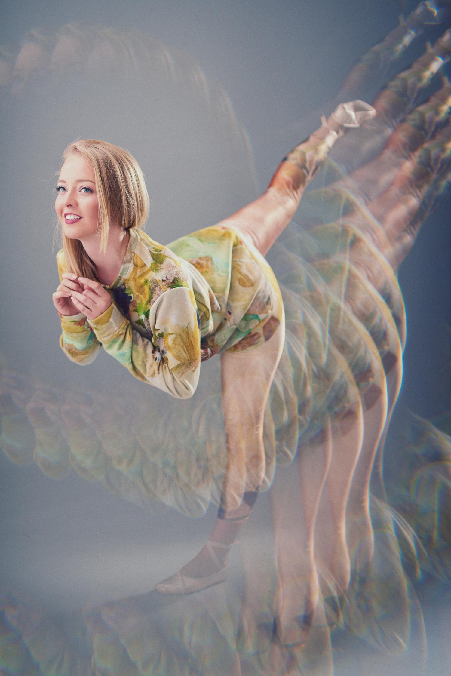 Monica Ariel in Rococo Angels sweatshirt