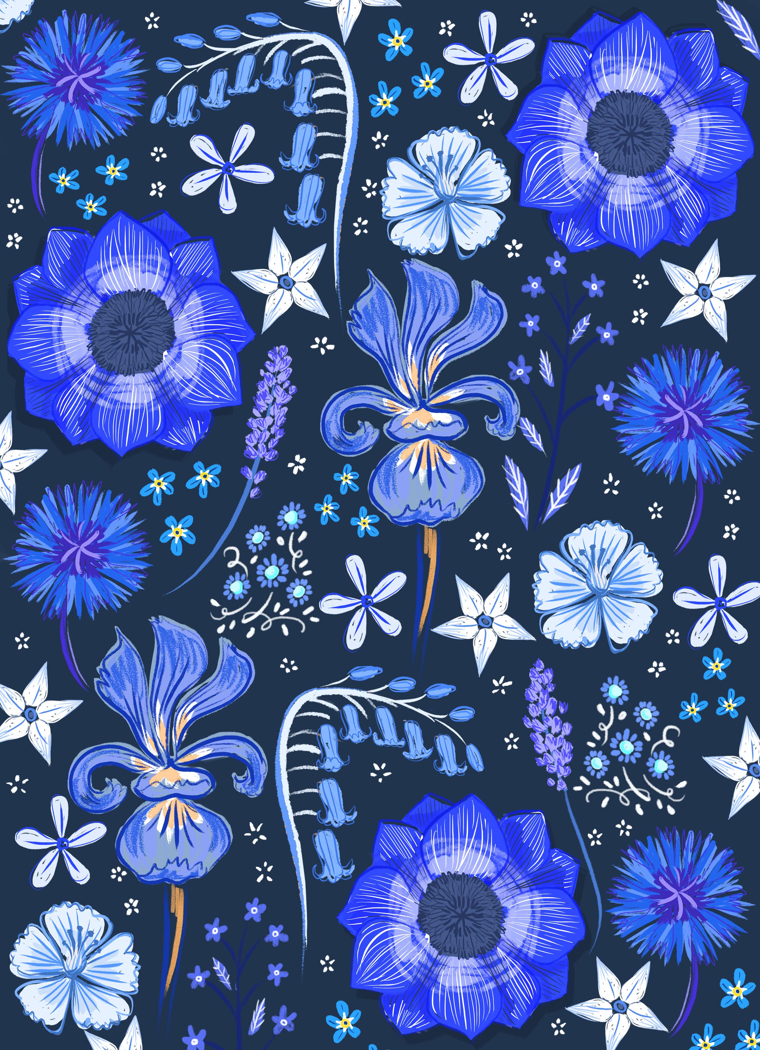 Blue Flower Pattern2.jpg