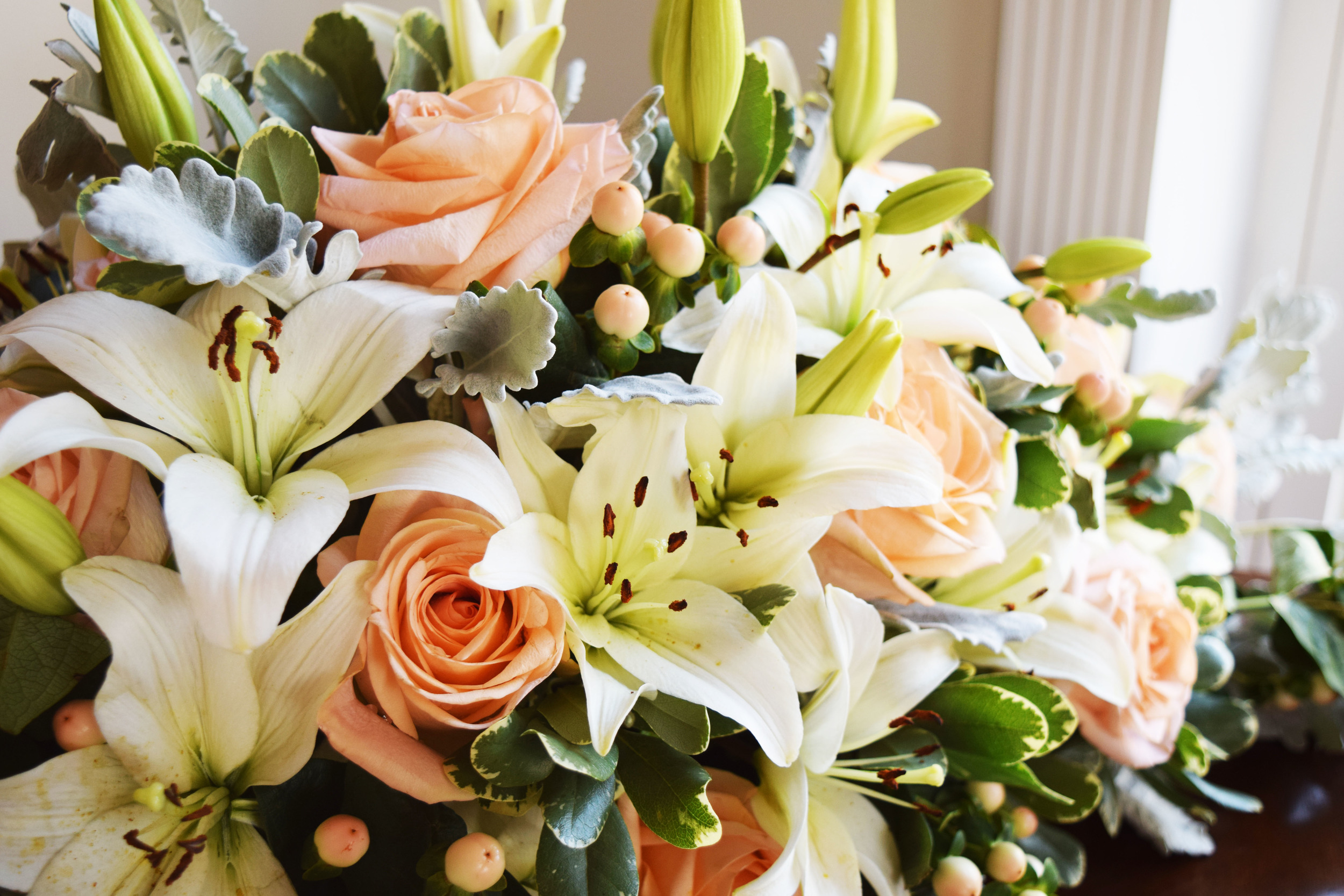 Yes! We make floral arrangements too! Our lead designer and florist creates beautiful bouquets, boutonnieres, floral centerpieces, ceremony floral arrangements, flower crowns, and more!