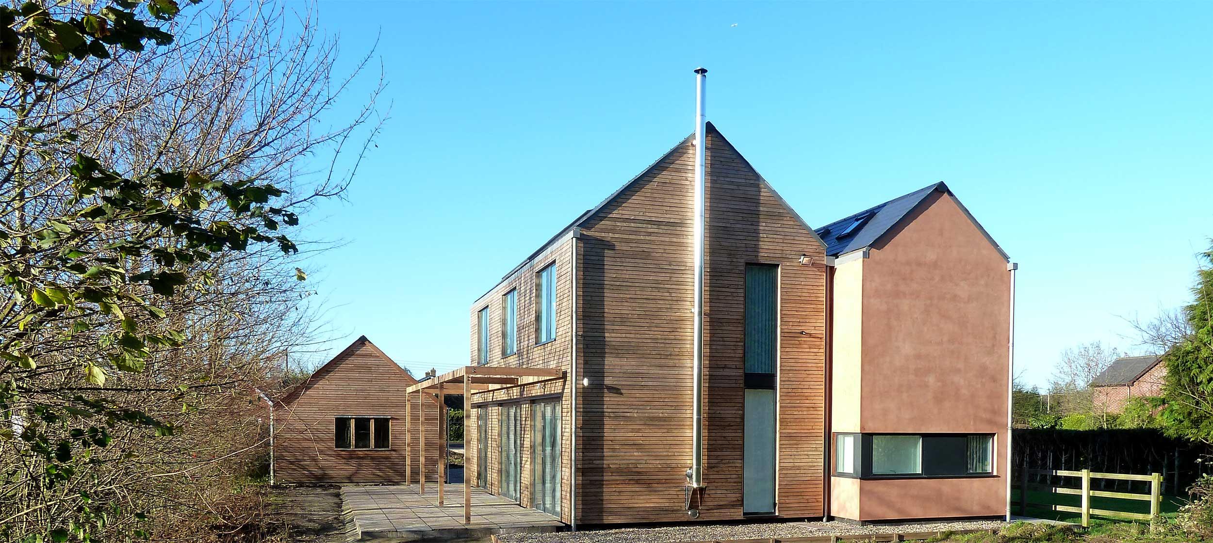 Larchwood dwelling modece architects suffolk bury st edmunds sustainable eco